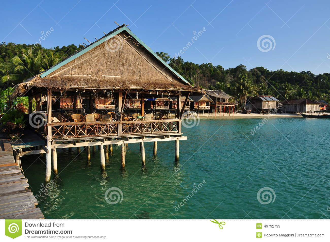 Traditional Architecture Koh Rong Island Cambodia Stock