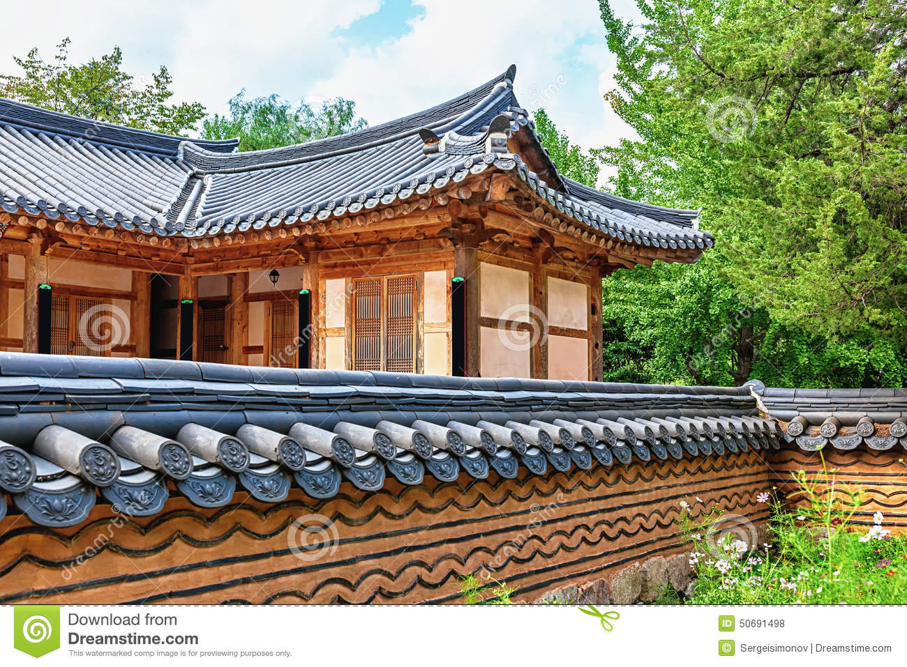 Traditional architecture old building or house in korea for Traditional house building