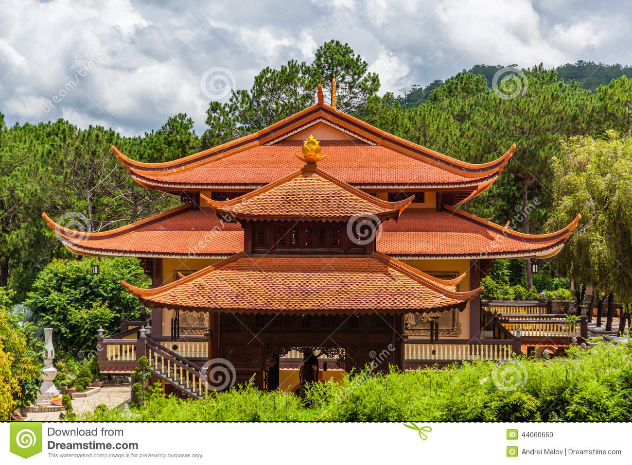 Traditional asian building in vietnam stock photo image for Asia famous buildings