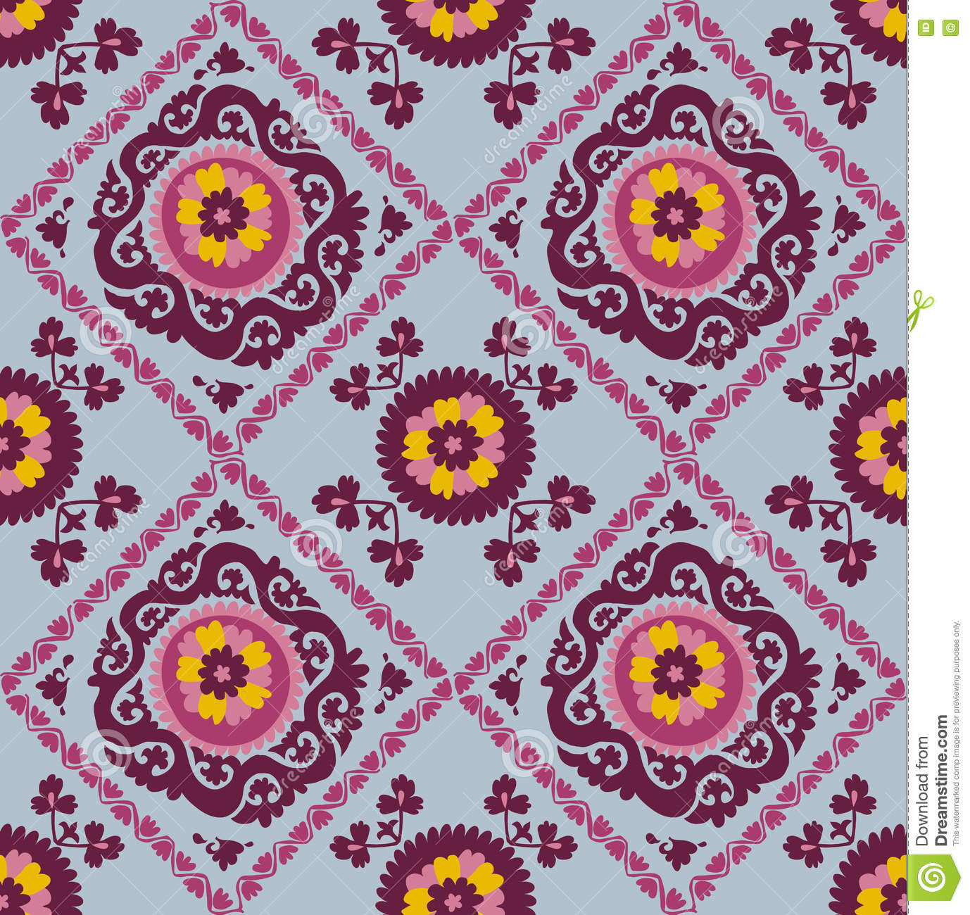 traditional asian carpet embroidery suzanne stock vector