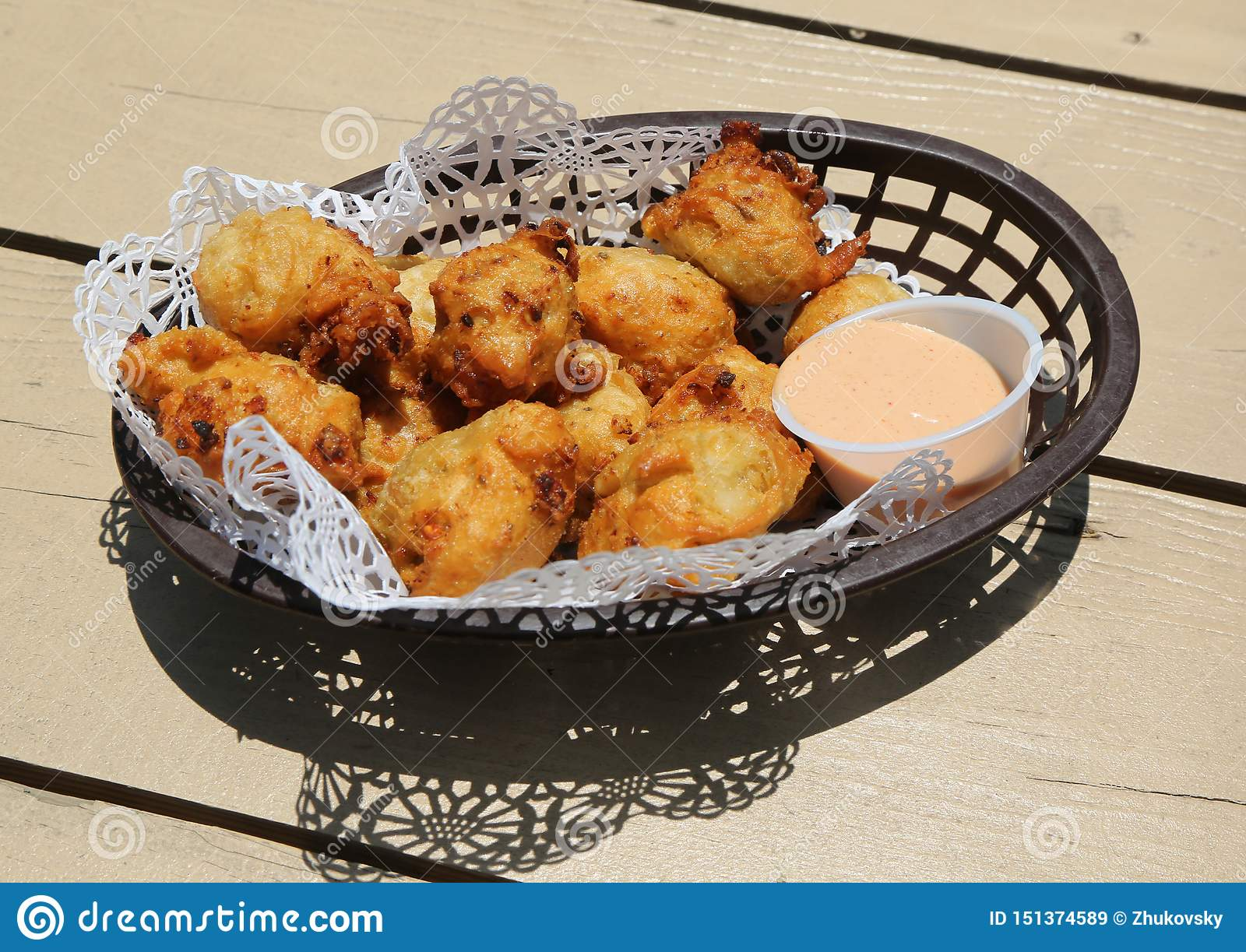 Traditional Bahamian Conch Fritters Stock Image Image Of Fresh Bahamas 151374589