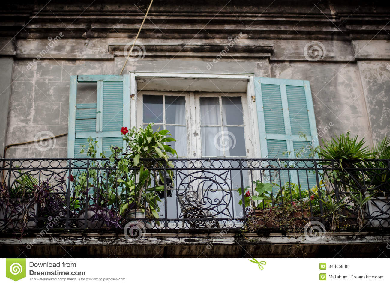 Traditional balcony new orleans royalty free stock photos for Traditional balconies
