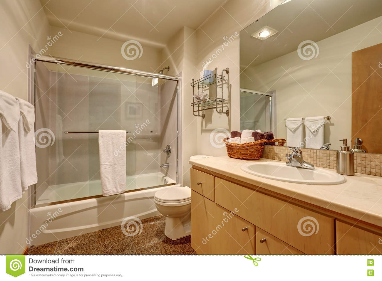 Traditional Bathroom Interior In American House Stock Image
