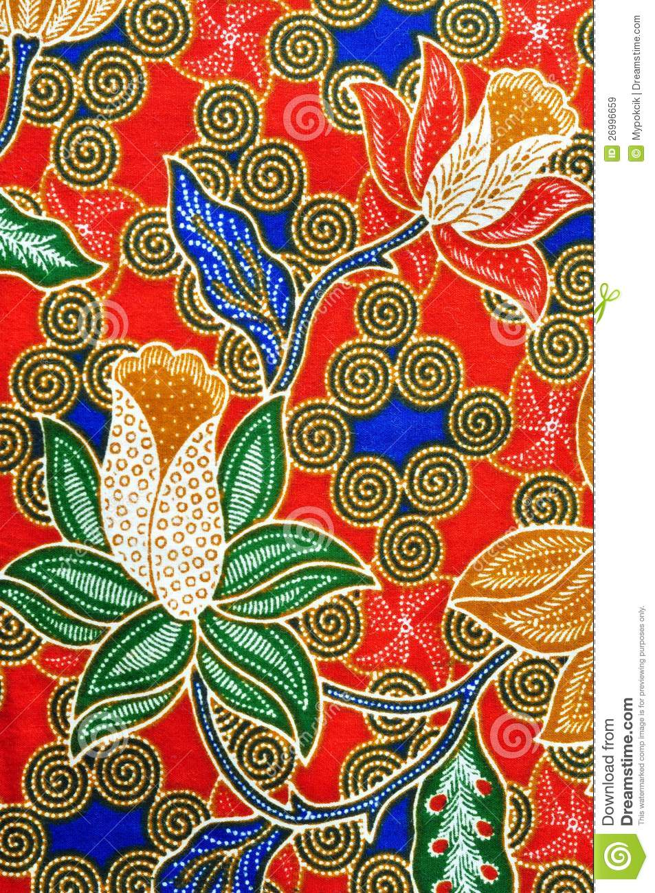 Traditional Batik Design Royalty Free Stock Images