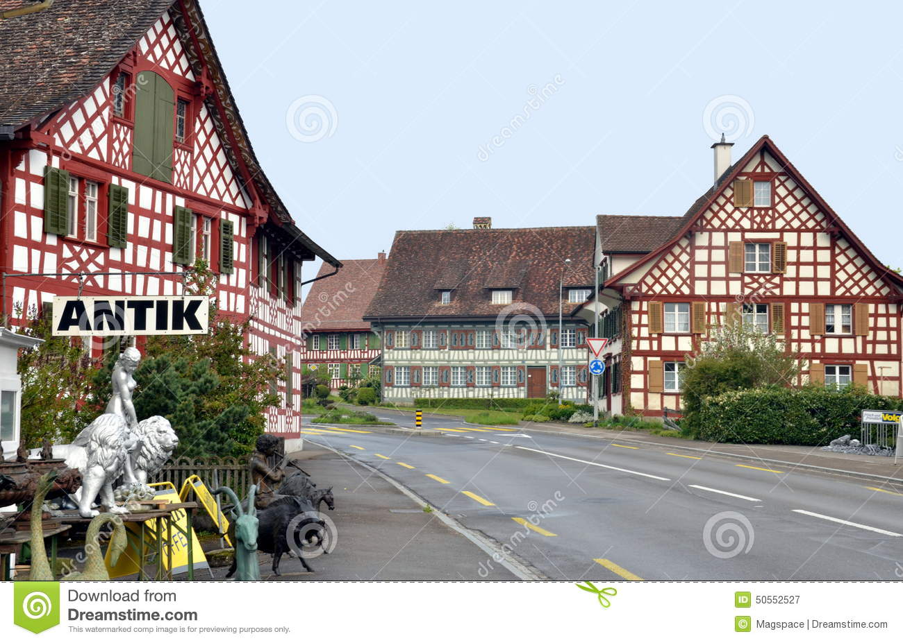 Traditional Bavarian Village Editorial Photography Image