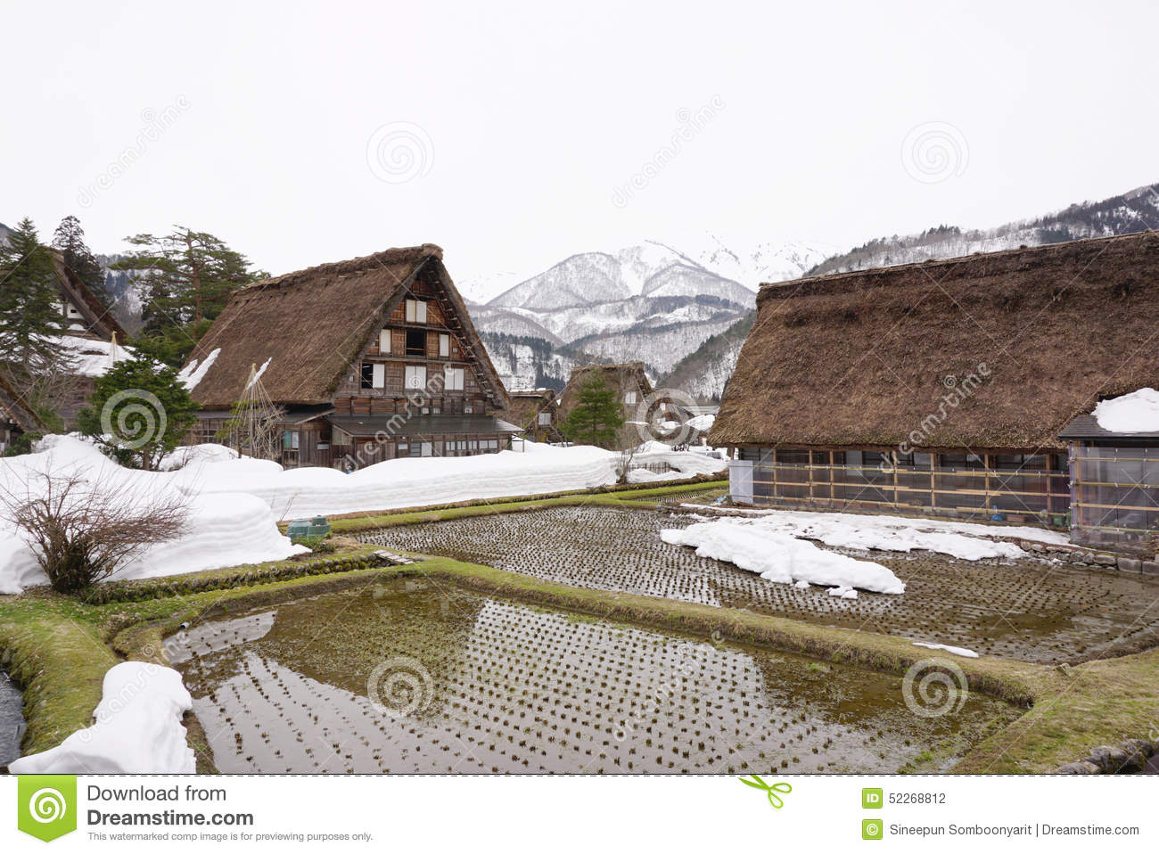 Beautiful Japanese House traditional beautiful japanese house in countryside of japan stock