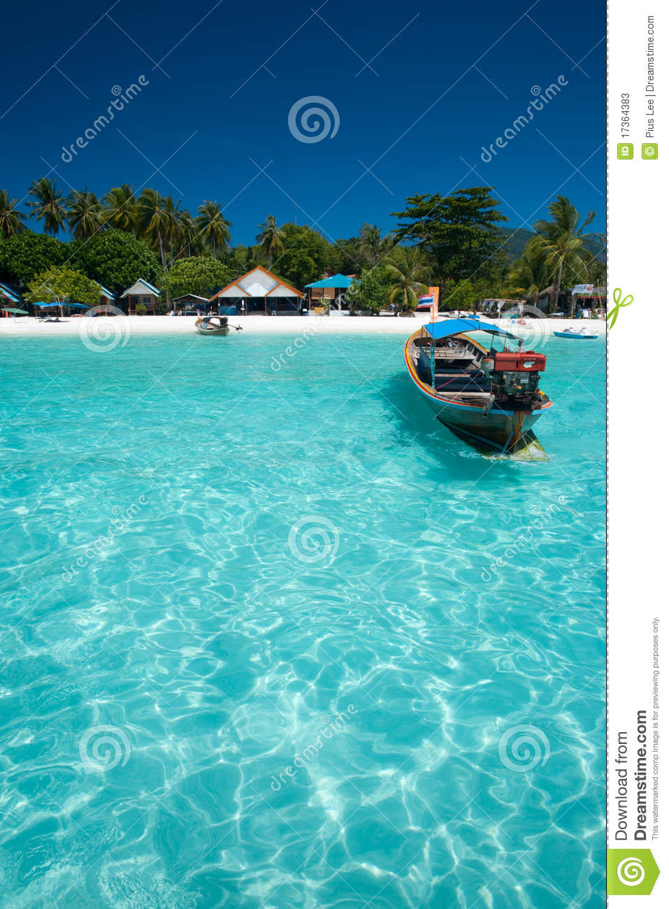 Traditional Boat Crystal Clear Water Stock Image