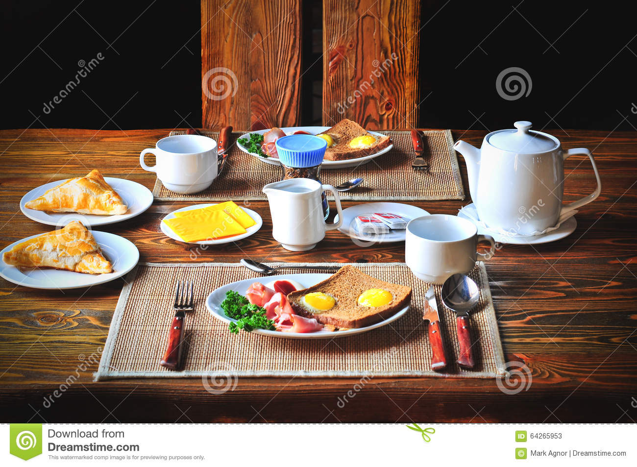 Royalty Free Stock Photo. Breakfast Table ...