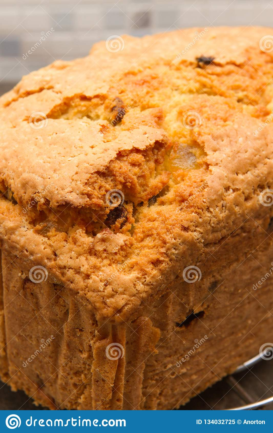 Traditional fruit loaf A traditional British fruit loaf