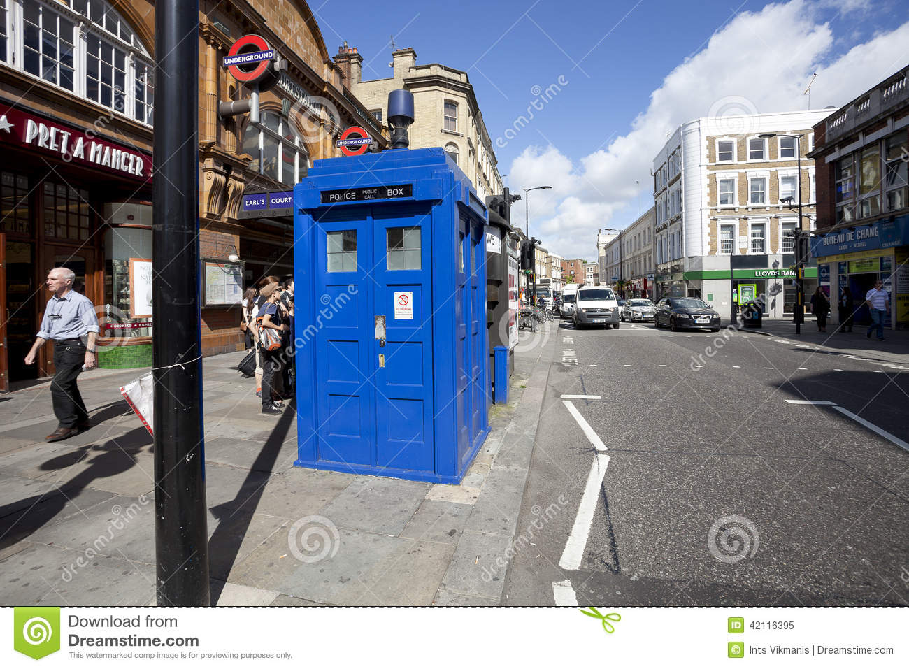 Traditional British Public Call Police Box Editorial Image