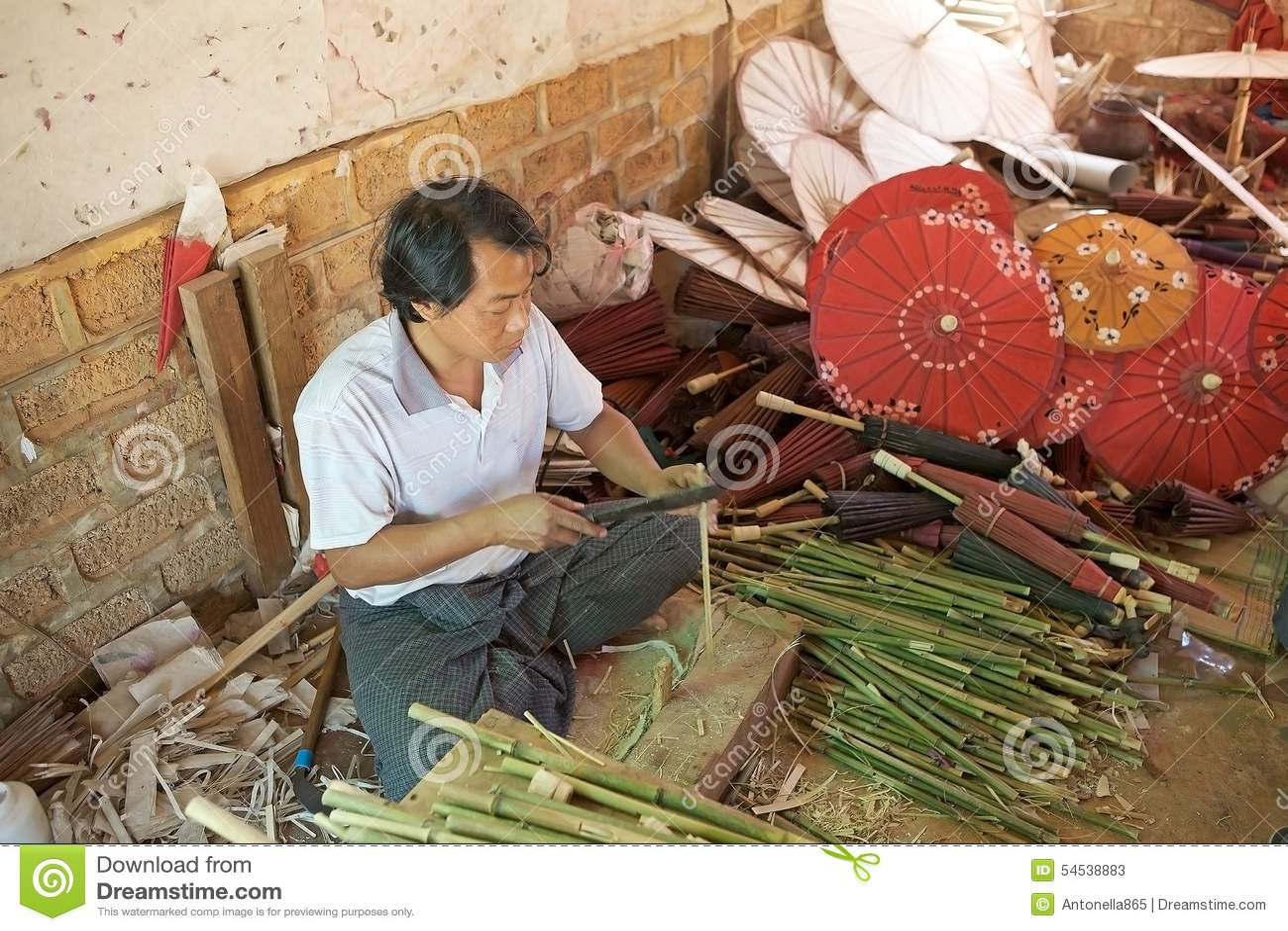 Traditional Burmese parasol