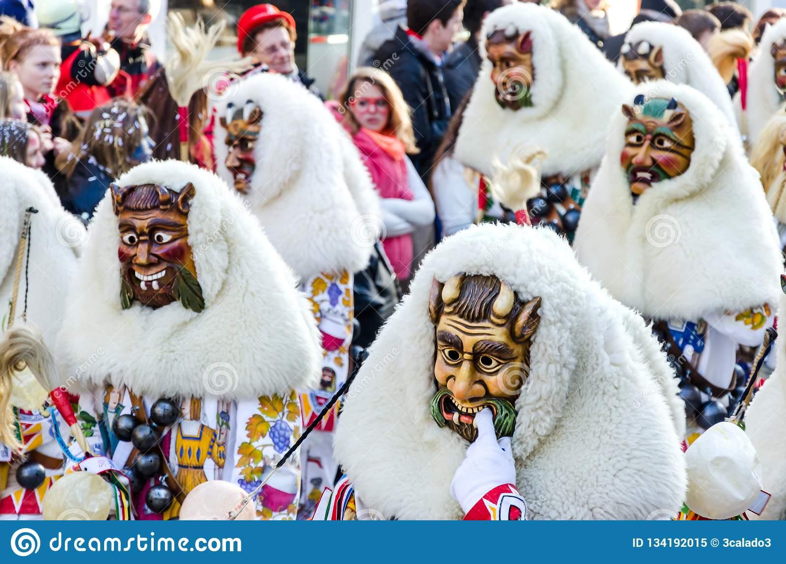 Traditional carnival parade in Southern Germany