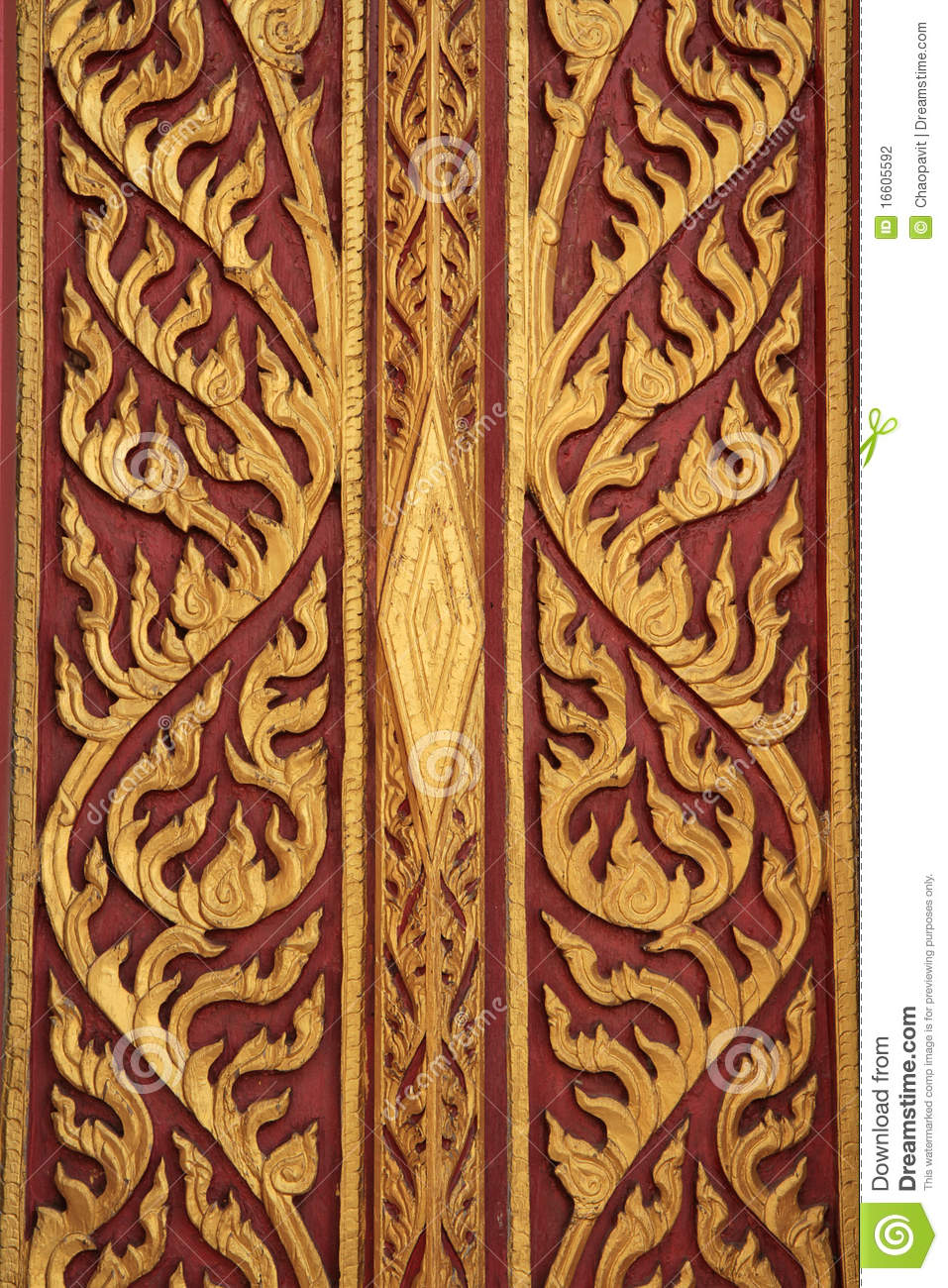 Traditional Carved Wood Thai Style Stock Photo Image Of