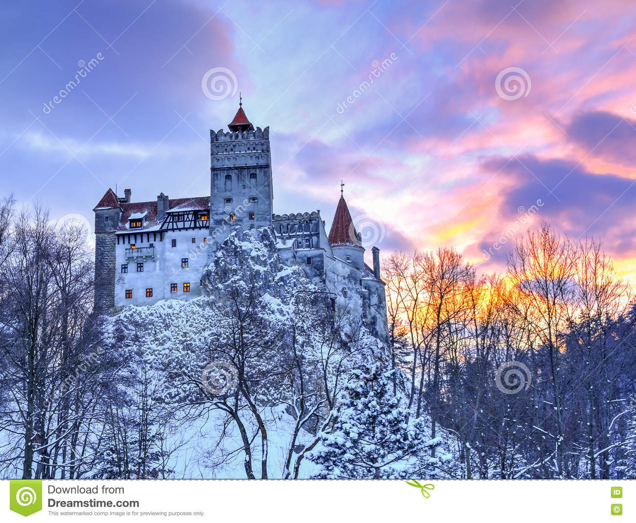 Traditional castle of Bran, Romania