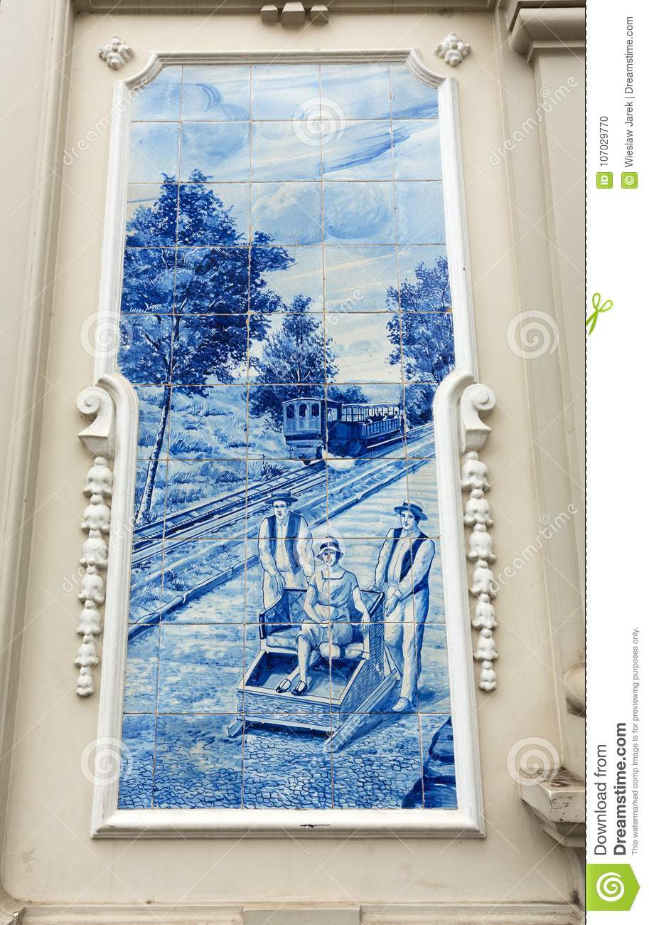 Traditional Ceramic Tiles In Funchal On Madeira Depicting Local Life ...