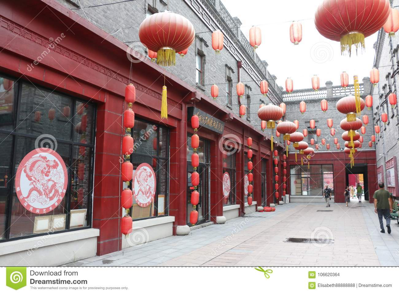traditional chinese architecture red lanterns the old grey house