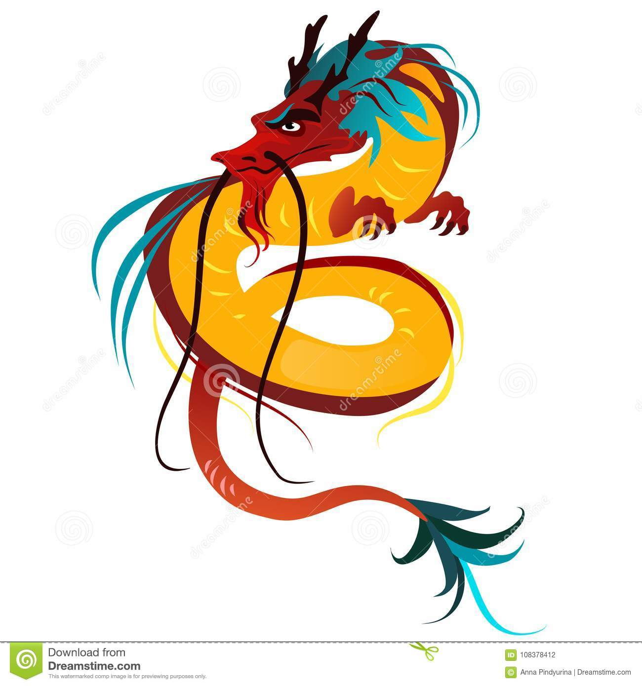 traditional chinese dragon ancient symbol of asian or china culture decoration for new year