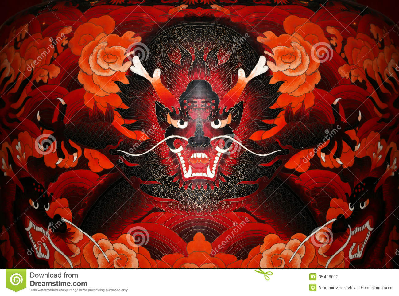 Traditional Chinese dragon stock image. Image of peace ...