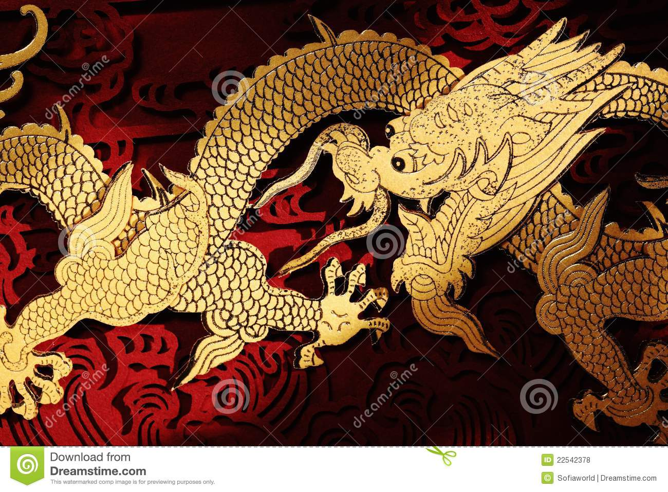 Traditional Chinese Dragon Painting Stock Photo - Image ...