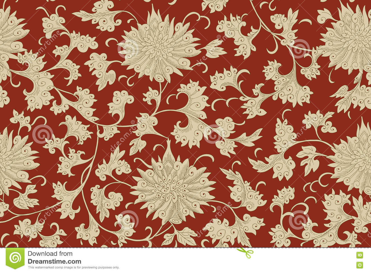 Traditional Chinese Floral Seamless Pattern For Your Design