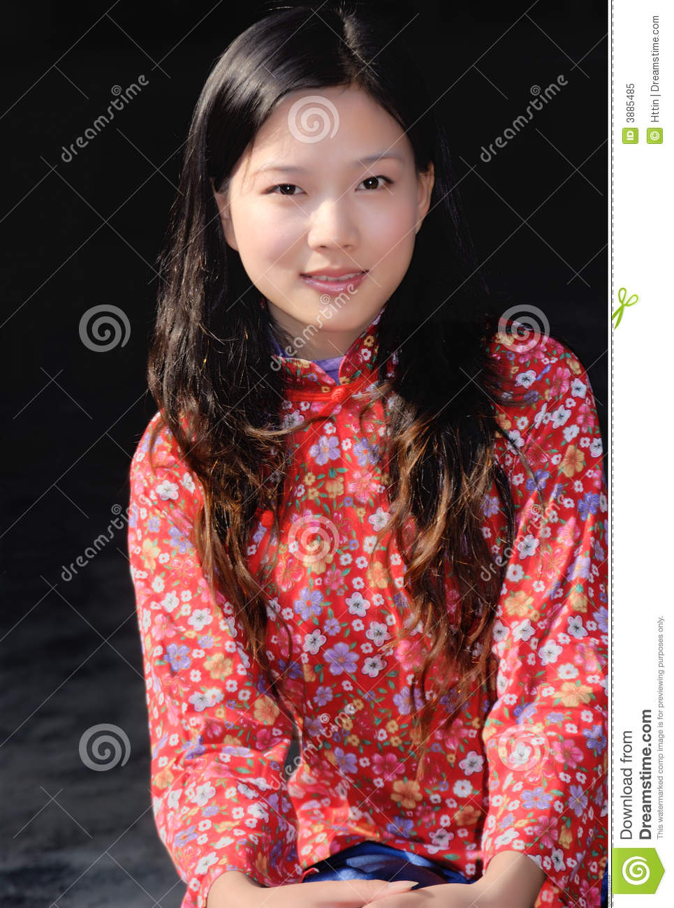 Traditional Chinese Girl Stock Image Image Of Eyes Sweet