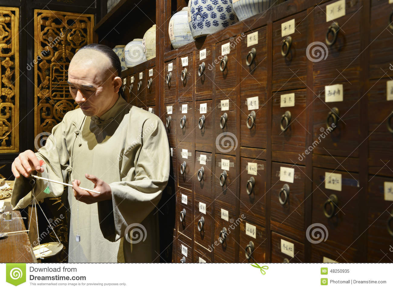 Chinese herbal treatment - Editorial Stock Photo Download Traditional Chinese Herbal Medicine
