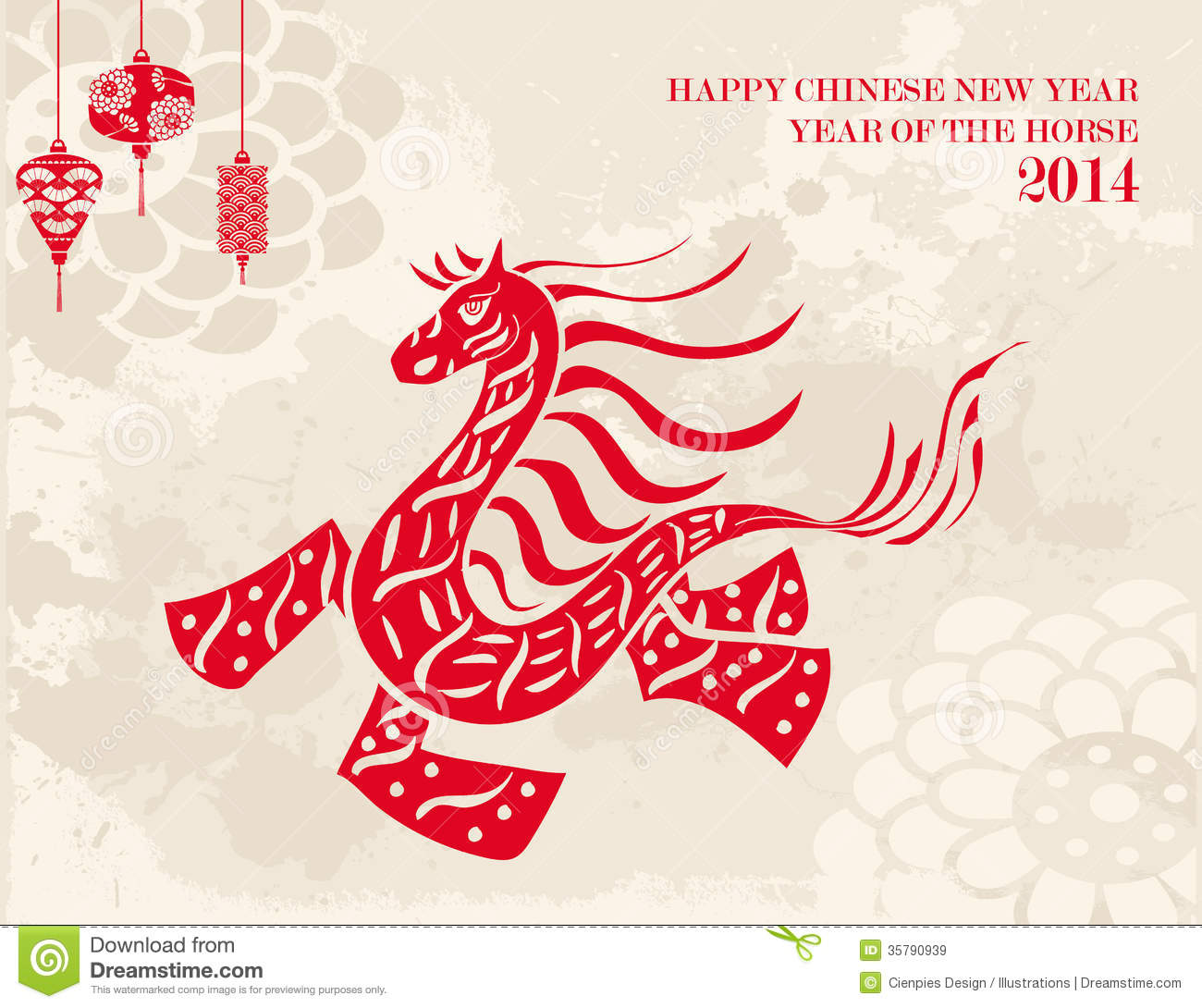 Traditional chinese horse new year 2014 stock vector illustration traditional chinese horse new year 2014 kristyandbryce Images