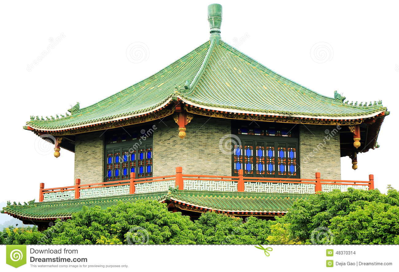 Asian chinese classic house ancient architecture stock for Japanese style garden buildings