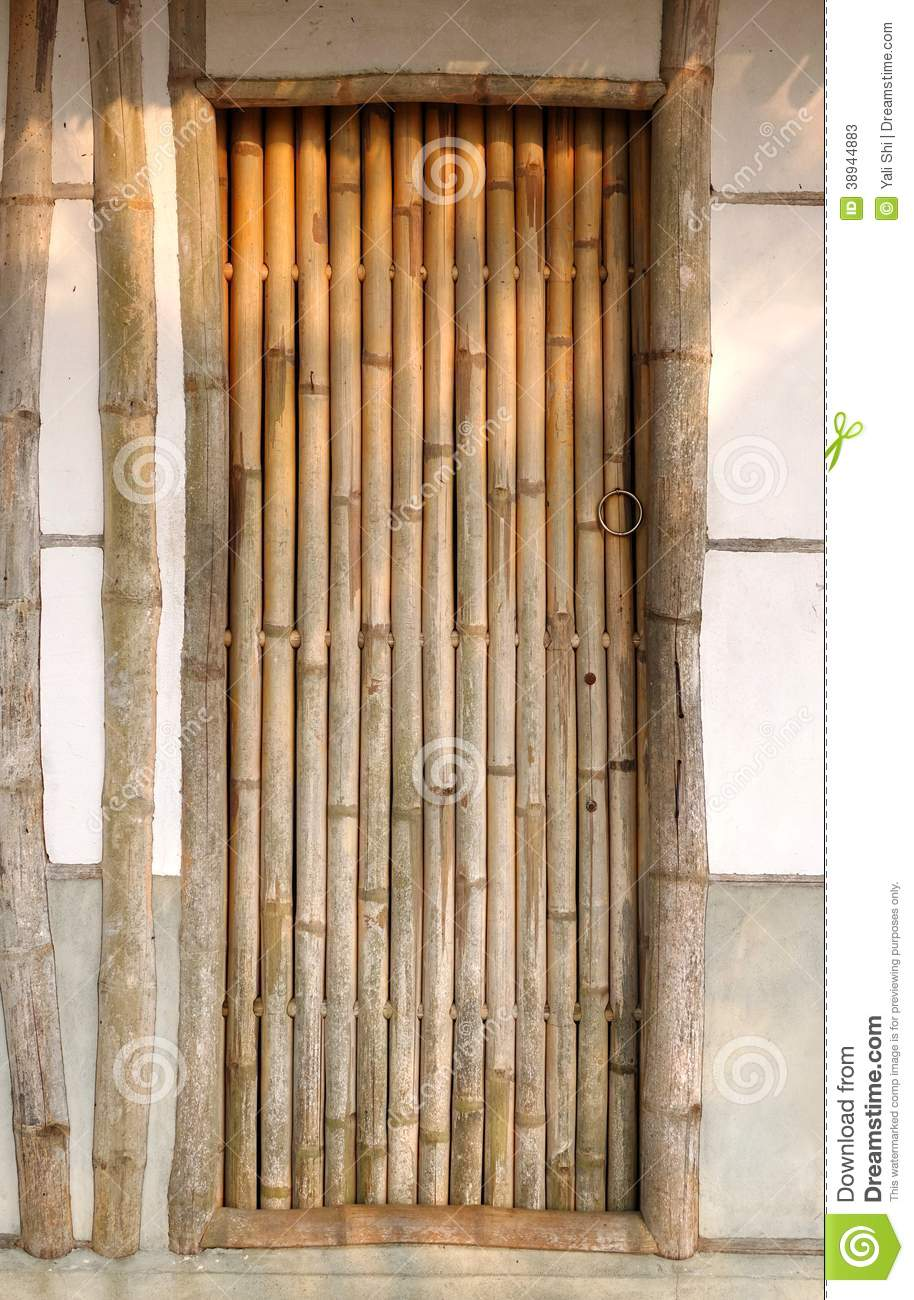 Traditional Chinese House With Bamboo Door Stock Image Image Of Bamboo Door 38944883