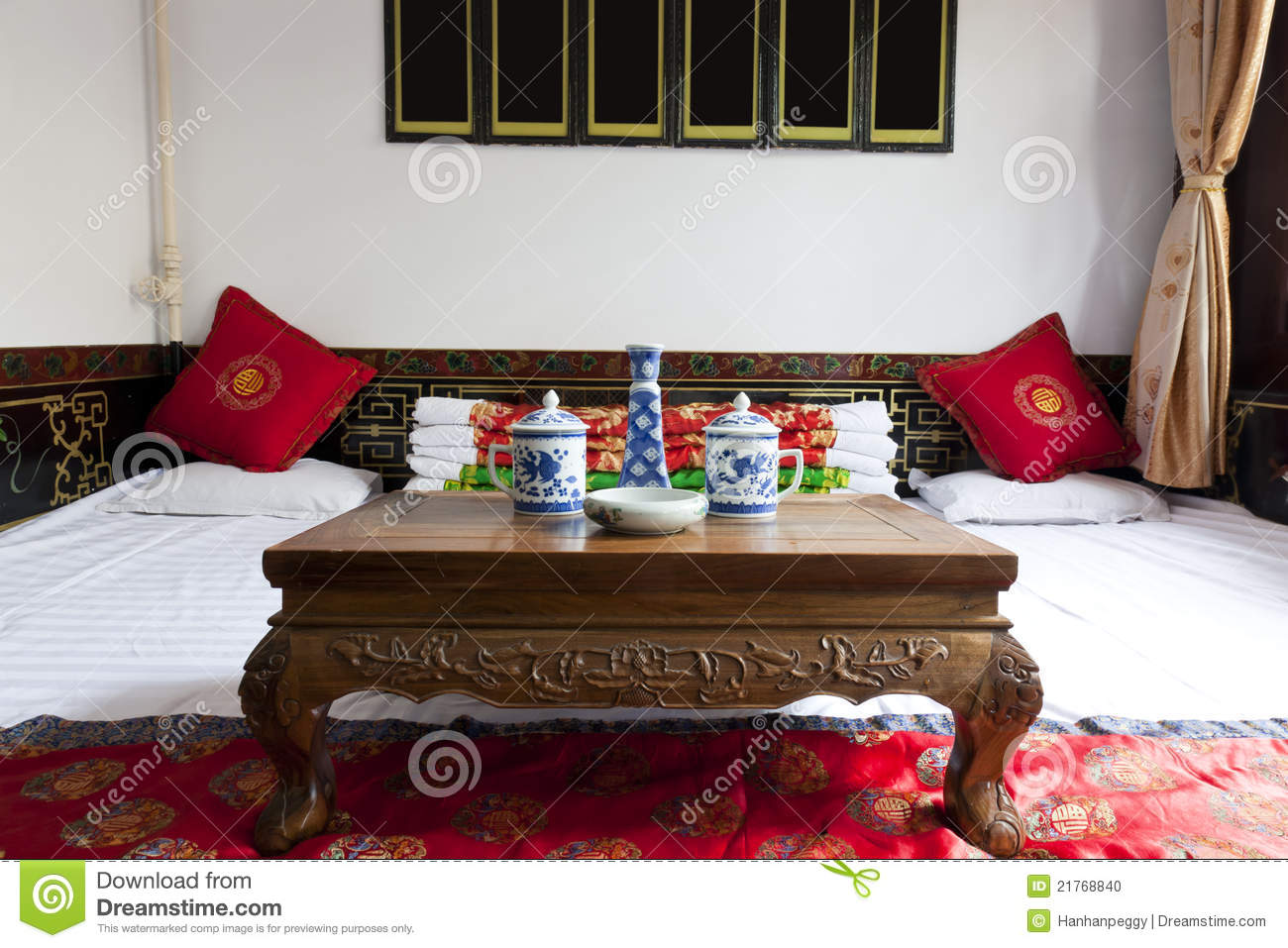 Traditional Chinese House Interior Stock Photo Image