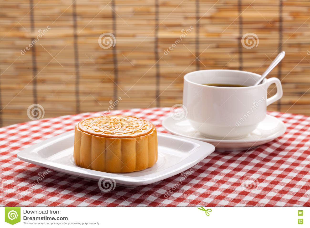 Chinese table setting - Traditional Chinese Moon Cakes On Table Setting With Teacup Stock Phototraditional Chinese Moon Cakes On Table