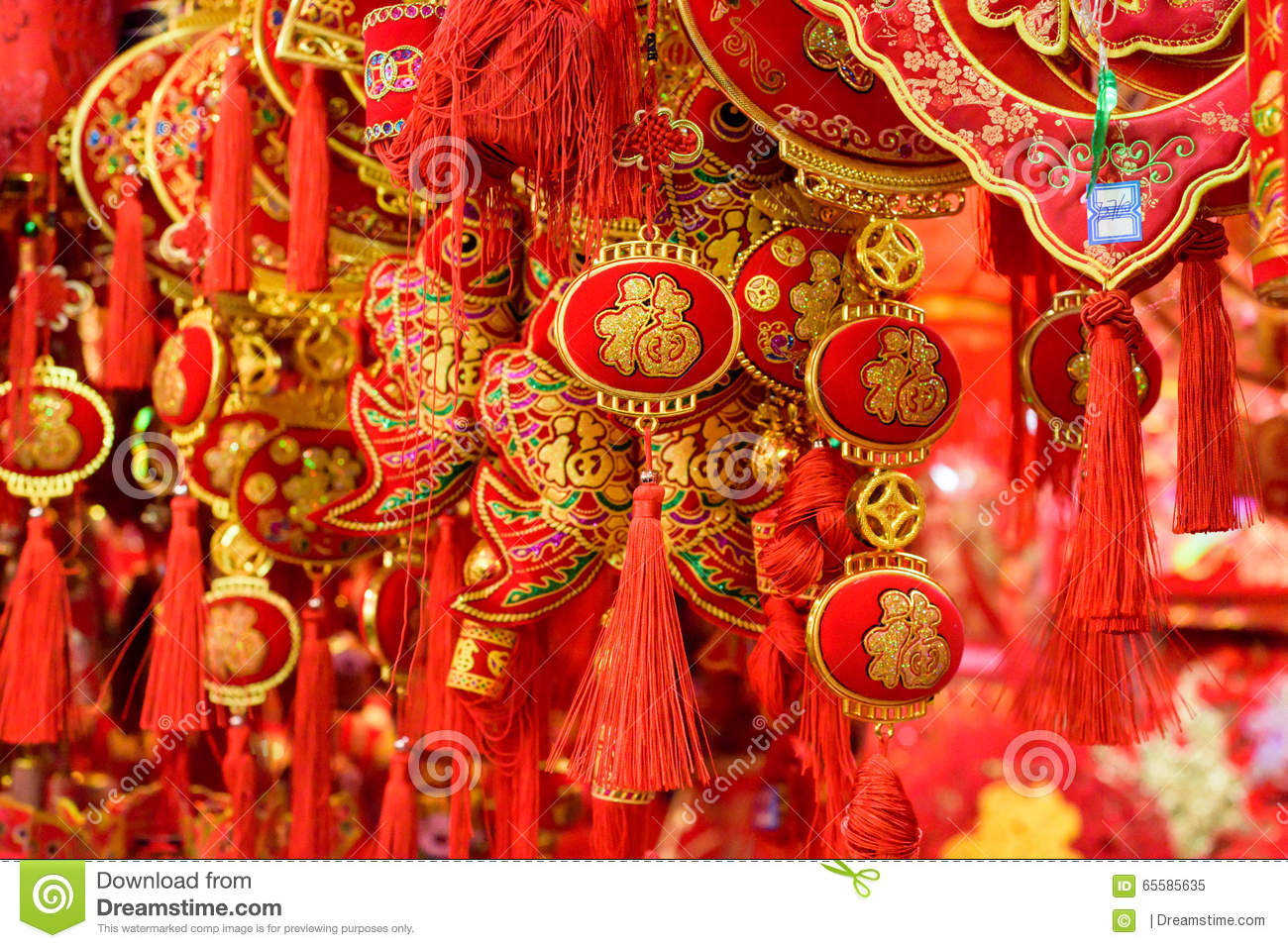 Traditional chinese new year decorations stock image for Chinese decorations