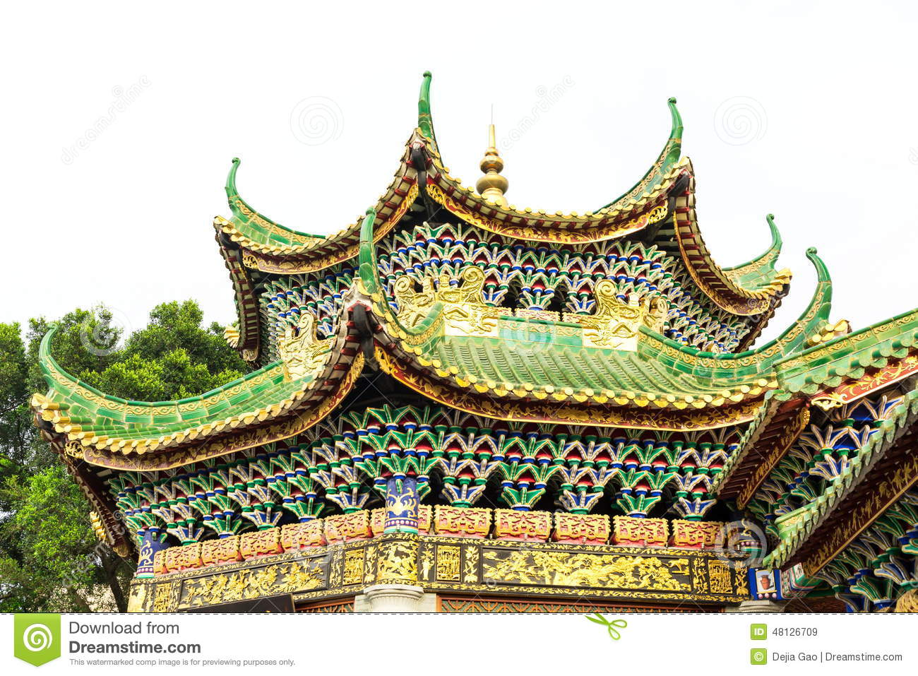 Roof Of Chinese Classic House China Stock Image Image Of