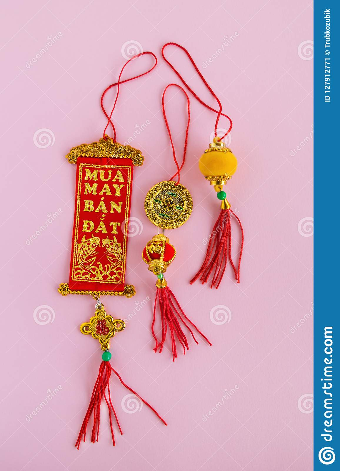 Traditional Chinese And Vietnamese New Year Decorations ...