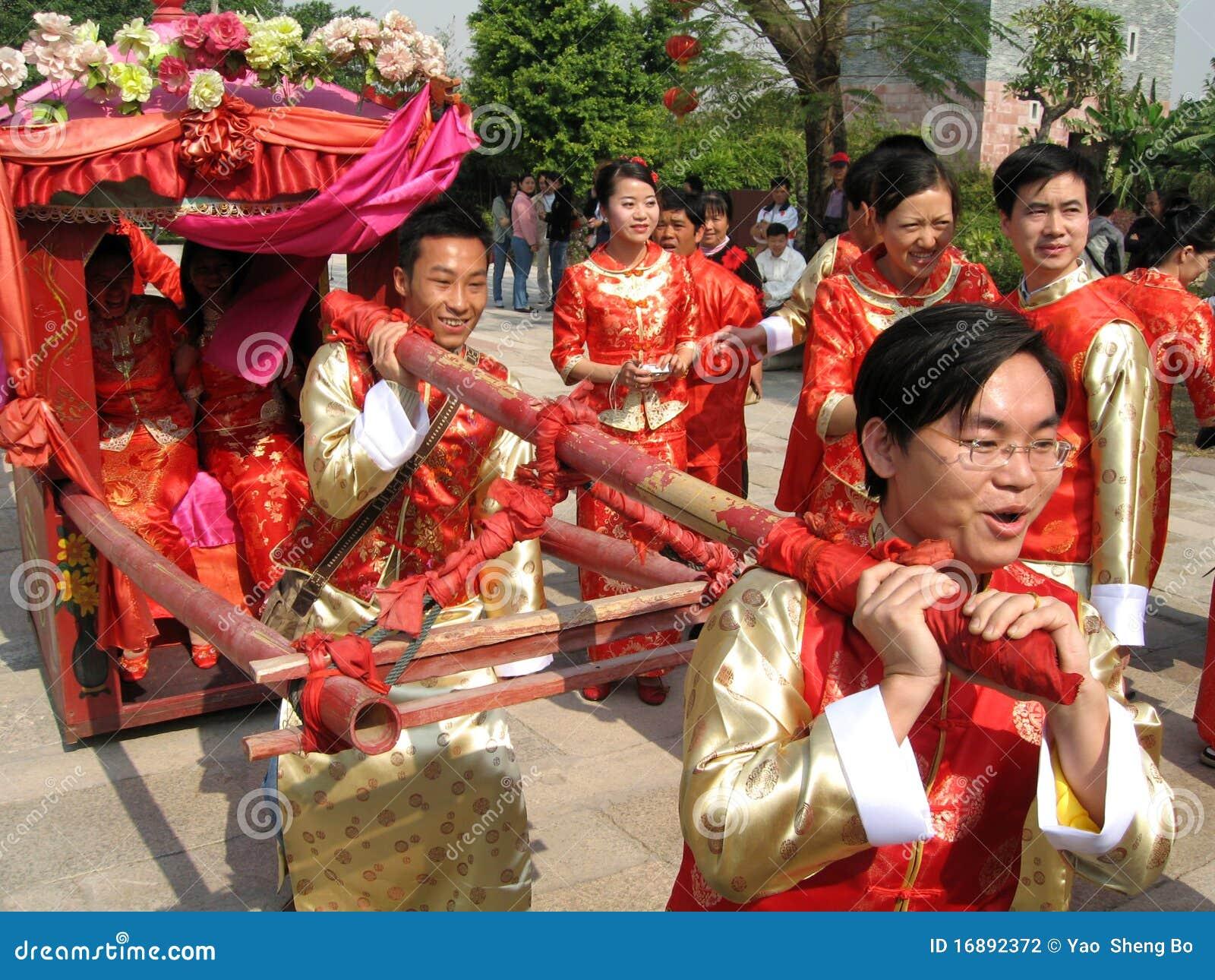 Traditional Chinese wedding celebration