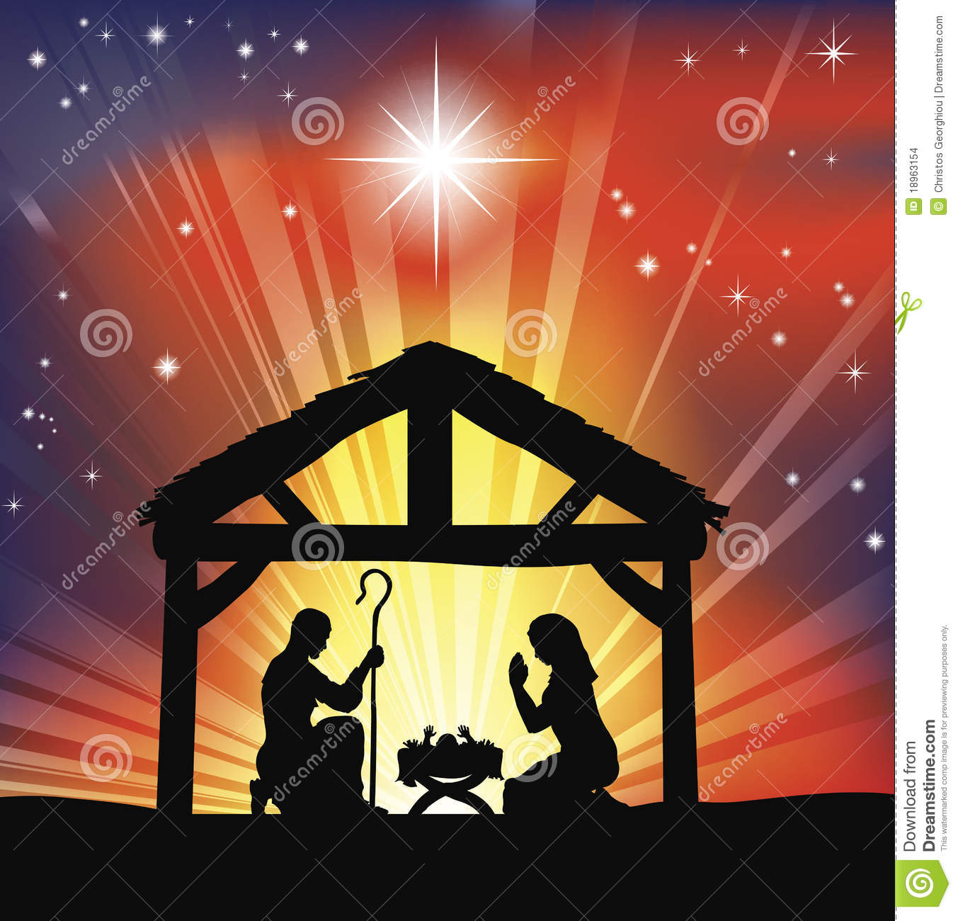 traditional christian christmas nativity scene stock vector