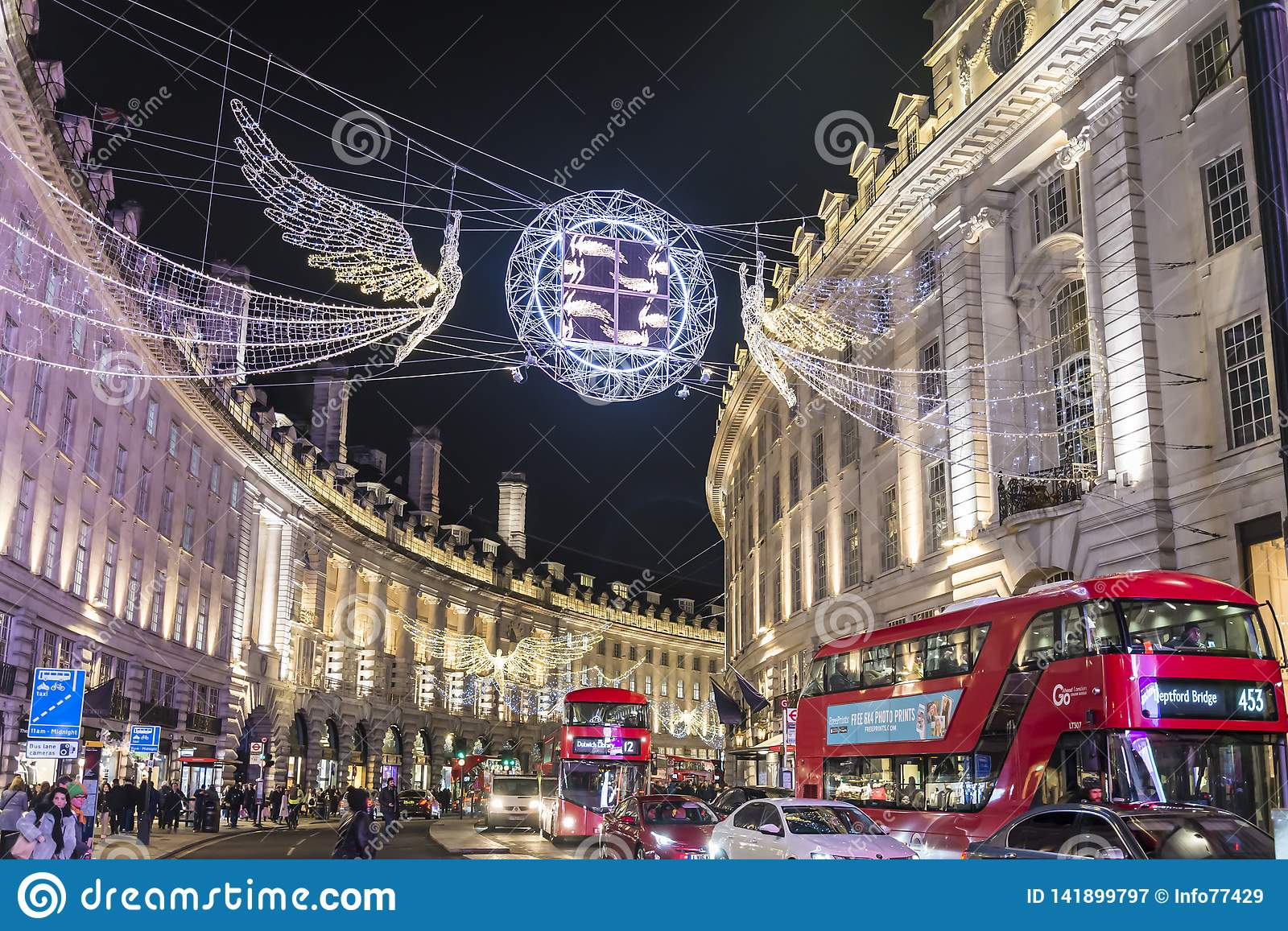 Traditional Christmas Decoration, Regent Street In Central