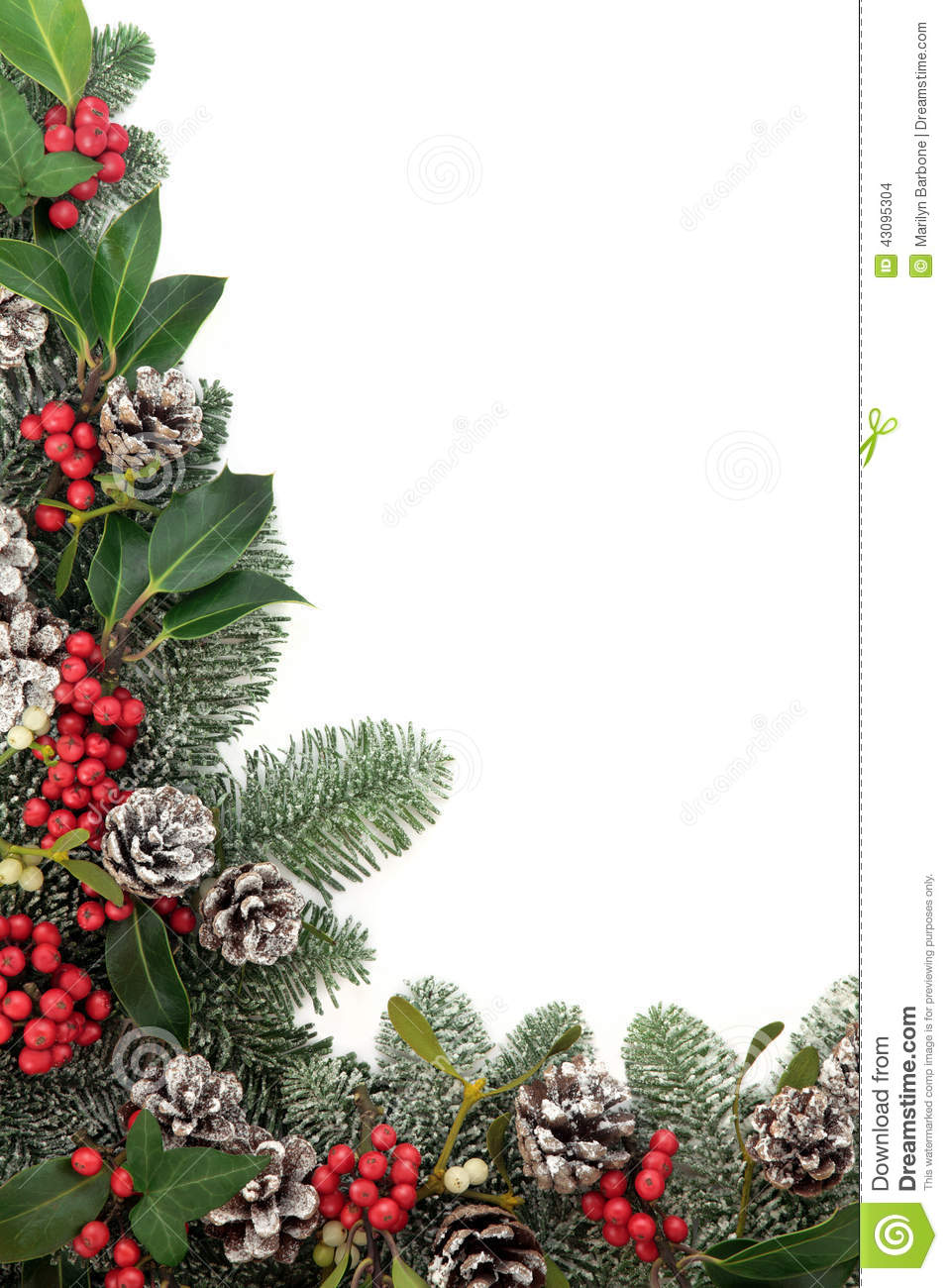 Christmas floral border stock photos freeimages com - Royalty Free Stock Photo Download Traditional Christmas Floral Border