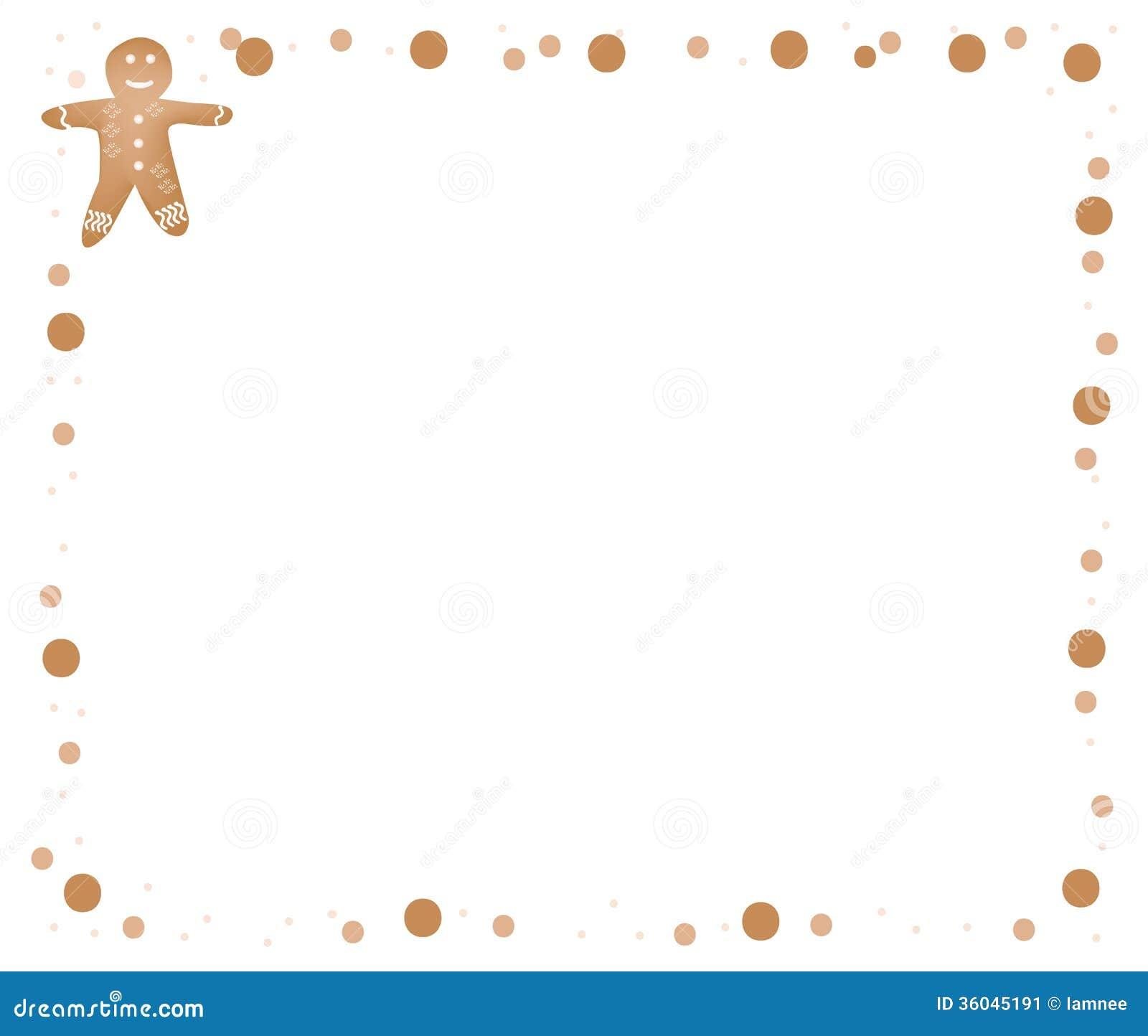 Baking border clipart gingerbread man border stock
