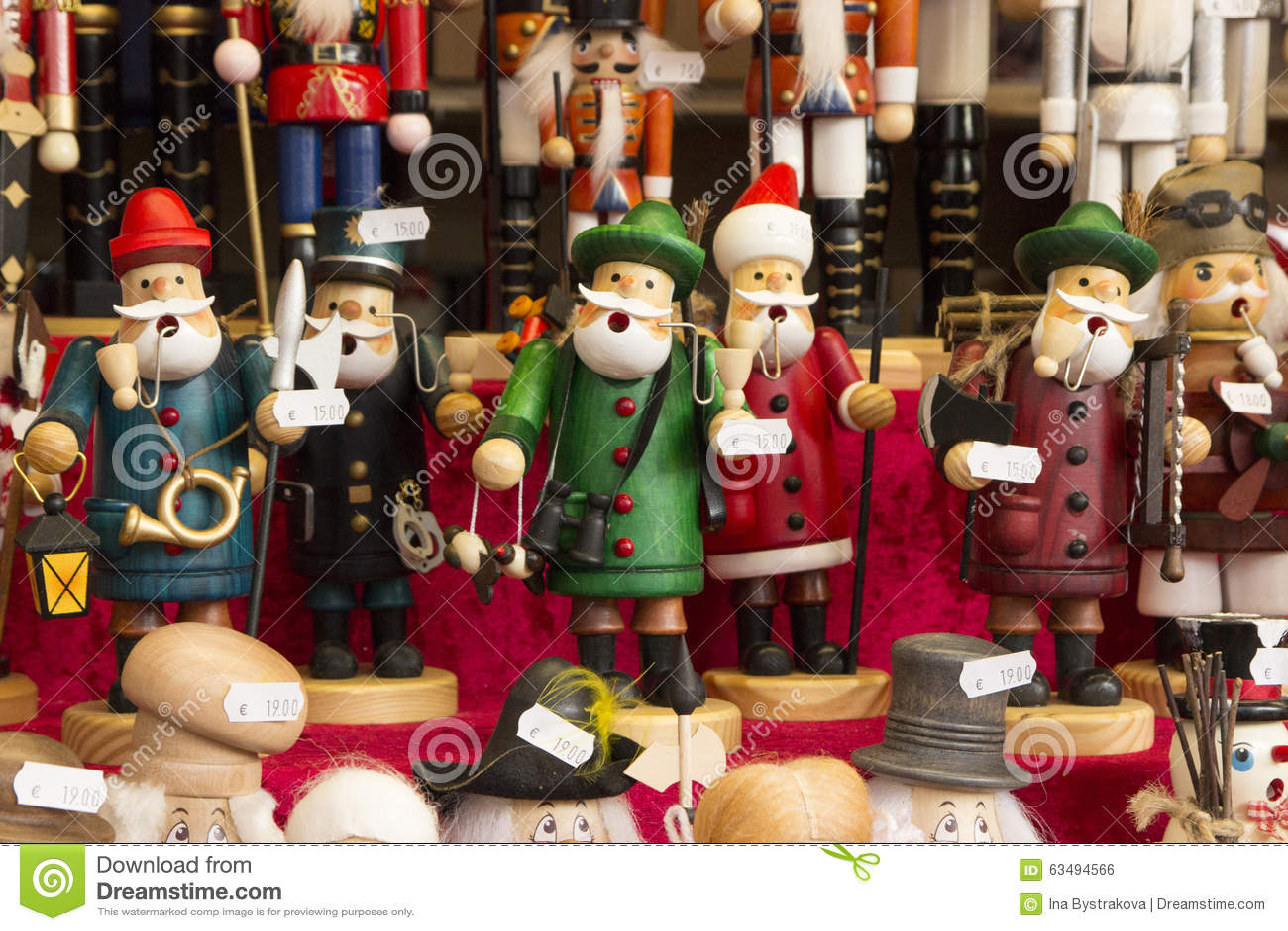 traditional christmas market souvenirs stock photo - image