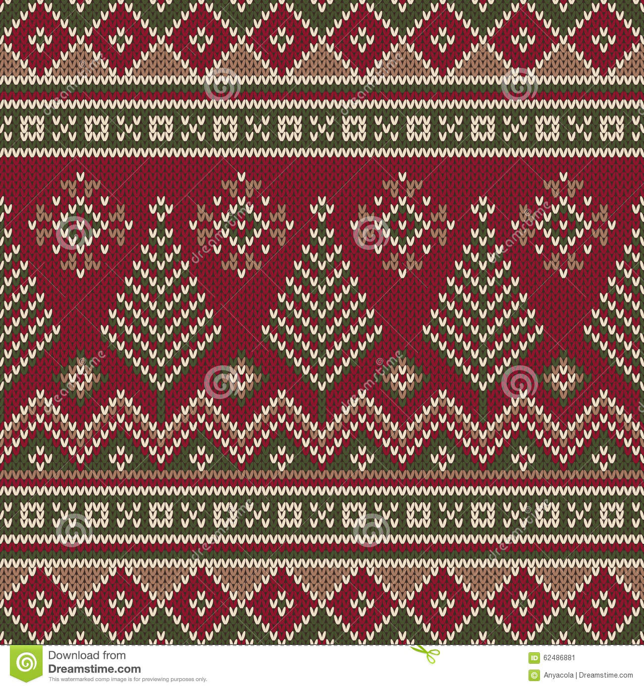 Traditional Christmas Sweater Design. Seamless Knitting Pattern Stock Vector ...