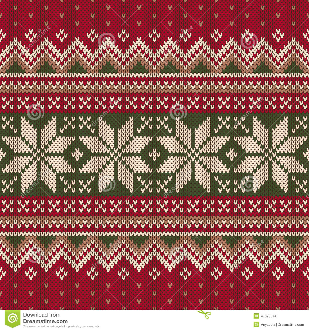Christmas Sweater Pattern.Traditional Christmas Sweater Design Seamless Pattern Stock