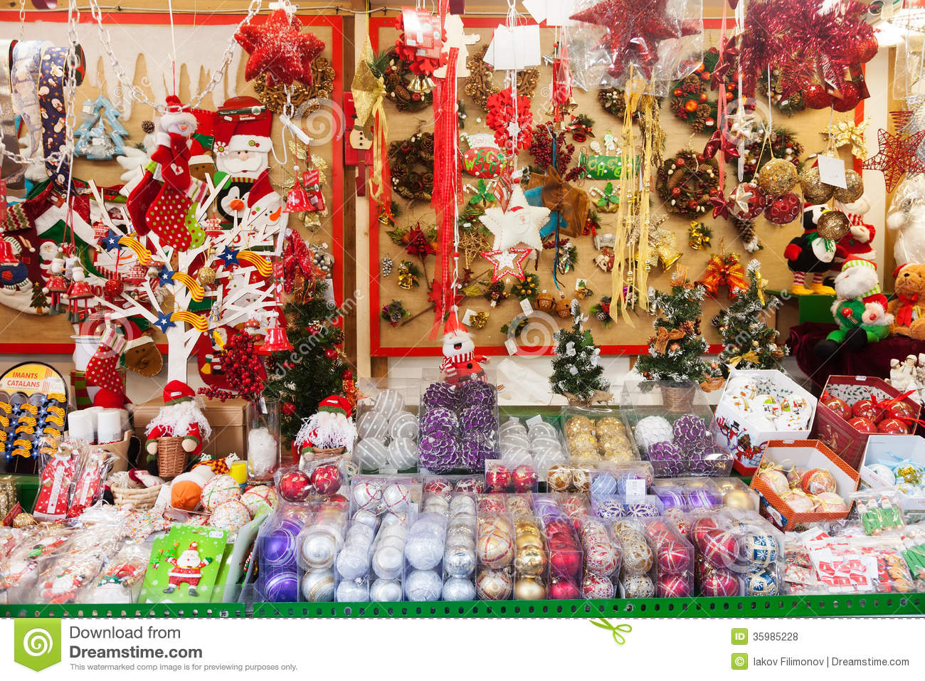Toys At Christmas : Traditional christmas toys and gifts at stand editorial