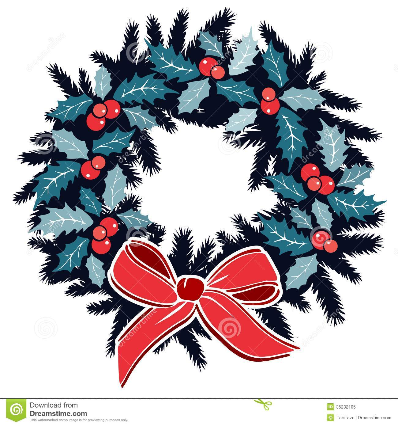 Why is holly a traditional christmas decoration - Berries Christmas Decoration Evergreen Holly Illustration Isolated Ribbon Traditional