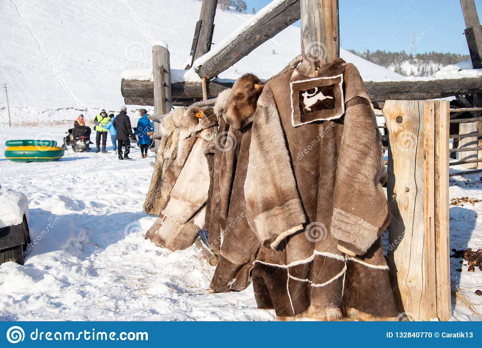72da97f16dc45 Traditional clothes of the north peoples of Yakutia in Yakutsk, Republic of  Sakha, Russia
