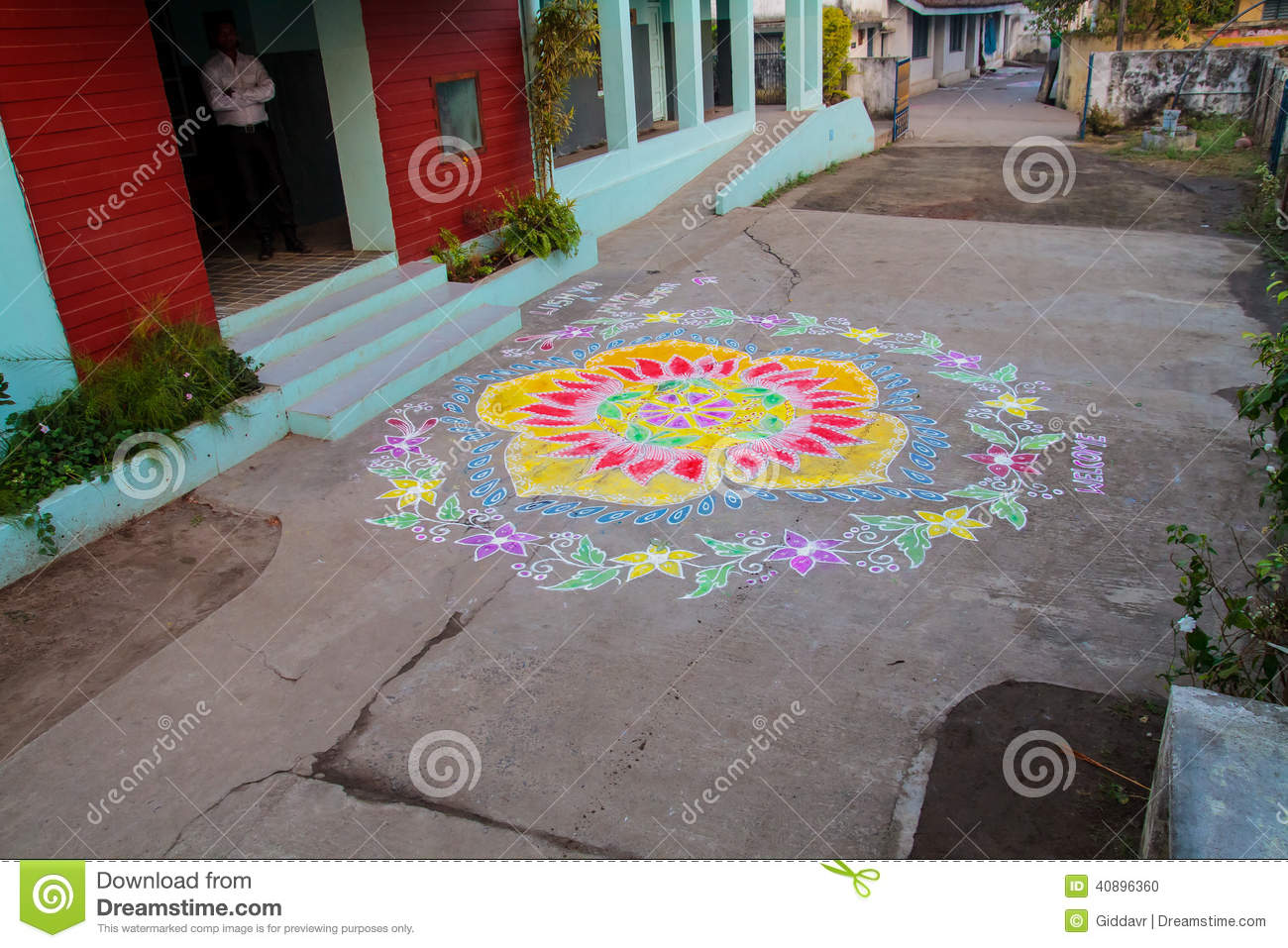 Traditional Colourful Rangoli Designs Welcoming New-year South Indian ...