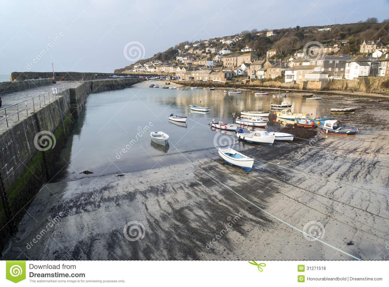 Traditional Cornish Fishing Village Royalty Free Stock Photos ...