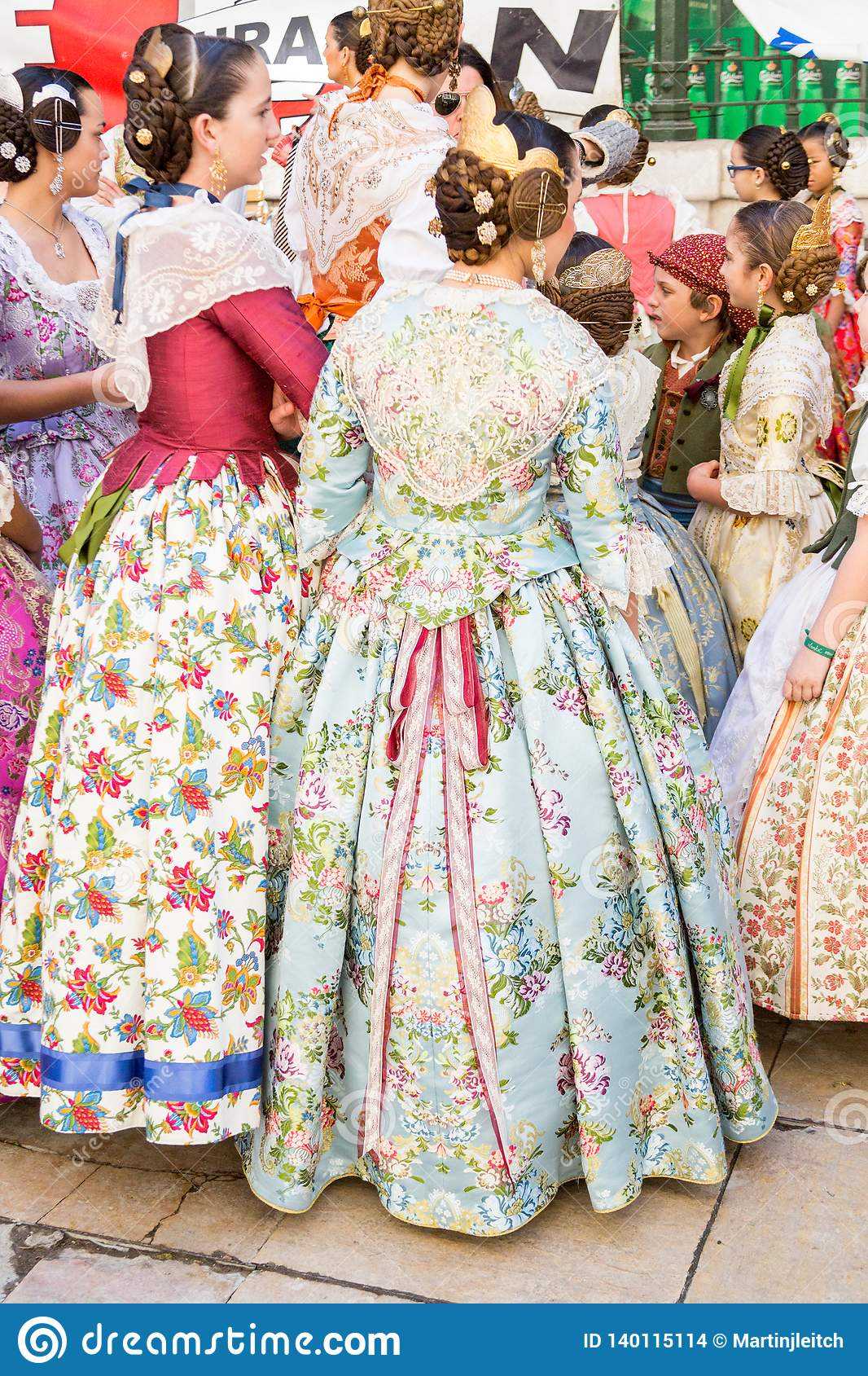 Traditional Costumes During Las Fallas