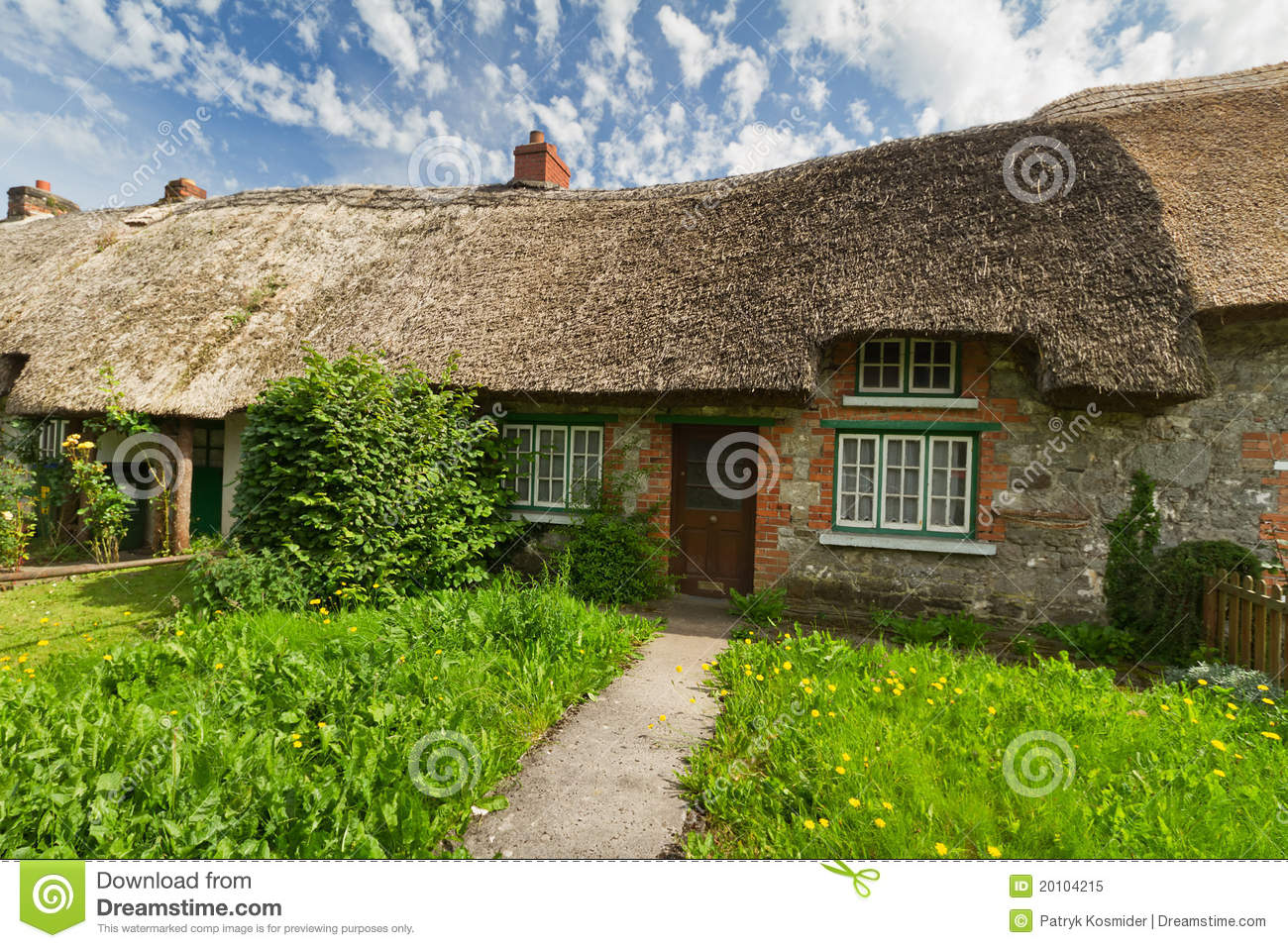 Traditional cottage house royalty free stock photo image for Traditional irish cottage designs