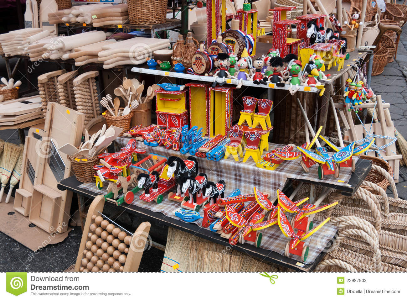Traditional Croatian wooden toys